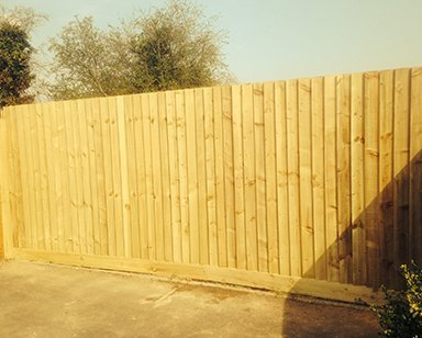 Panelled fence