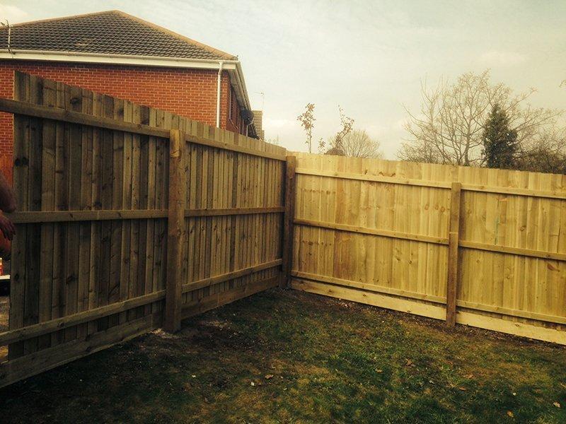 Closed board fencing