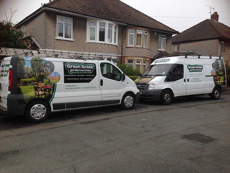 Greengrass Fencing and Garden Service Vans