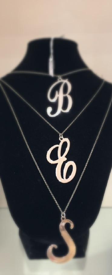 Collane con lettera in argento