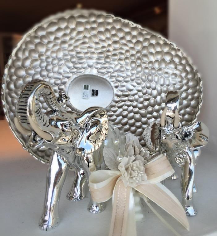 Centrotavola Argenesi + Coppia elefanti Memory Argenti