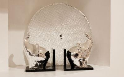 Elefanti fermalibri in argento