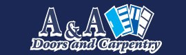 A and A doors and carpentry logo
