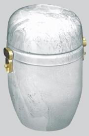 Urna Carrara bianca ø 20x25H