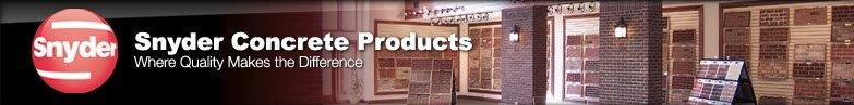 snyder concrete products