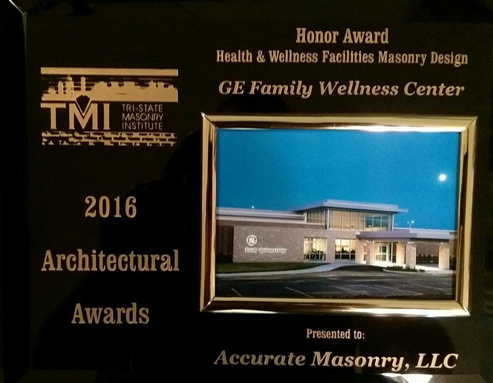 GE Family wellness center masonry design award