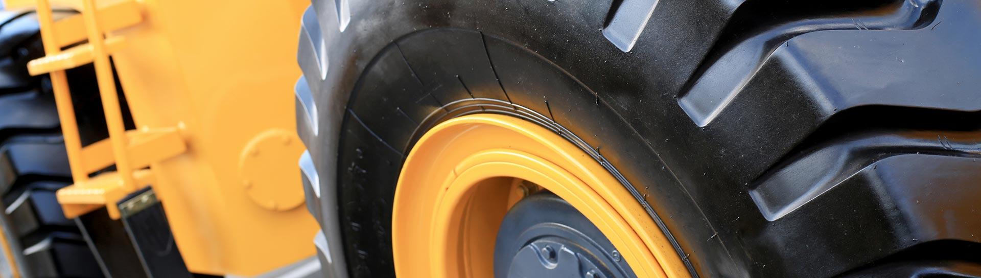 truck wheel close up