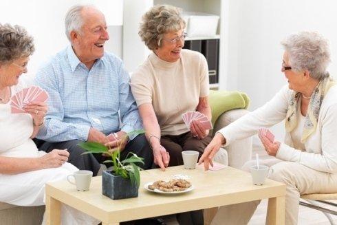 Spazi comuni per anziani.