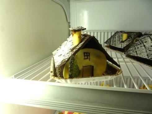torta a forma di casa