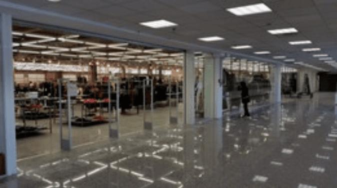 sistema antitaccheggio in un centro commerciale