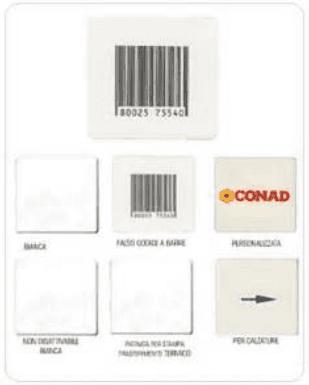 etichette adesive antitaccheggio