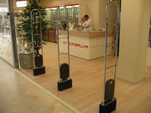 sistema antitaccheggio per occhiali, antitaccheggio a radiofrequenza, sistemi di sicurezza per negozi