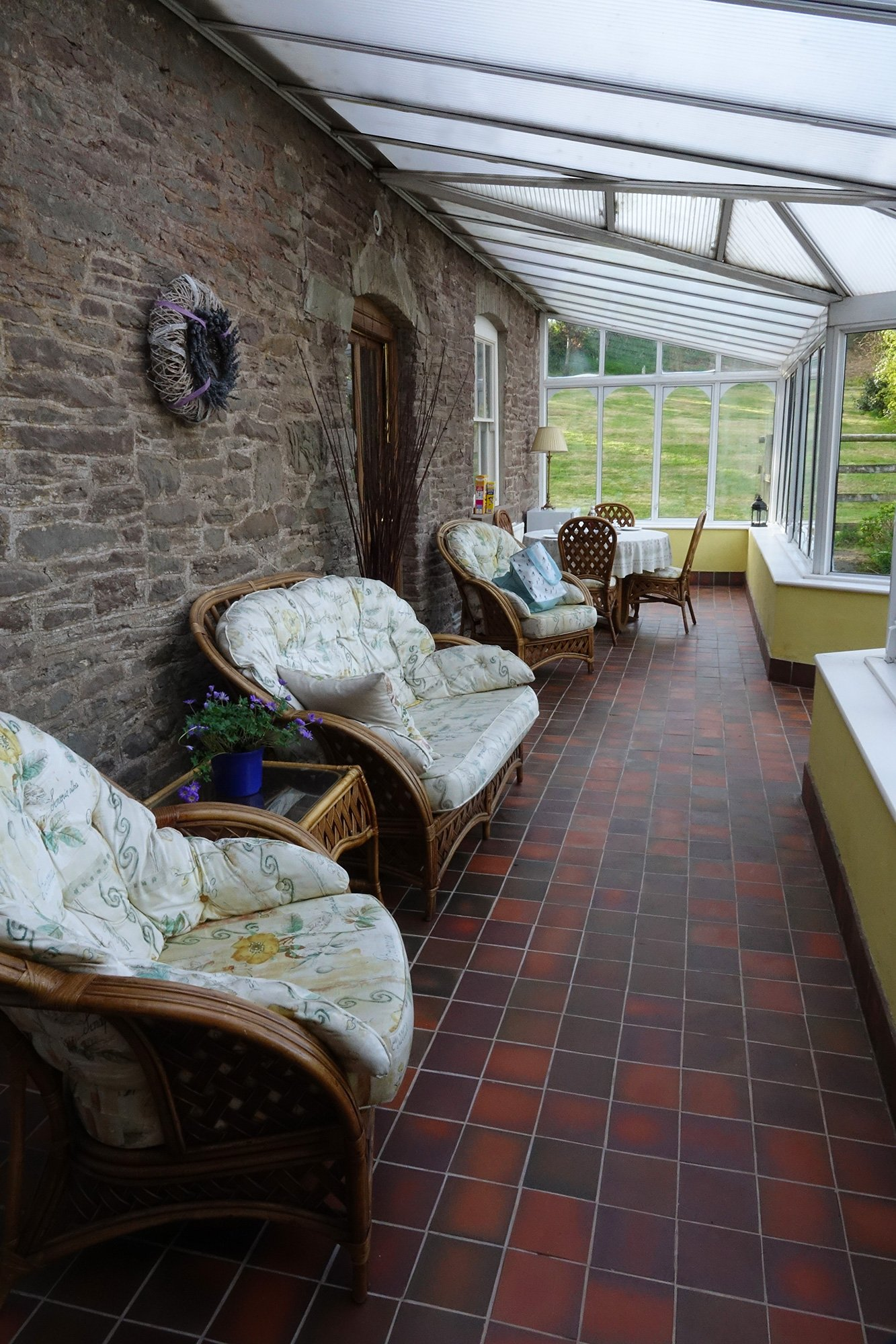 the conservatory at The Draen