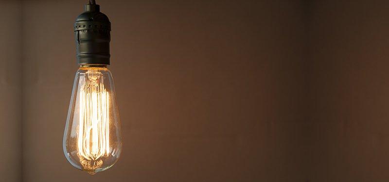 currumbin waters electrical light bulb is glowing