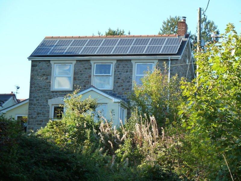 domestic building solar panel installation