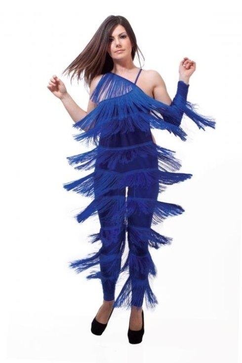 Abito blu da ballo