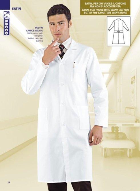 Camice bianco da uomo