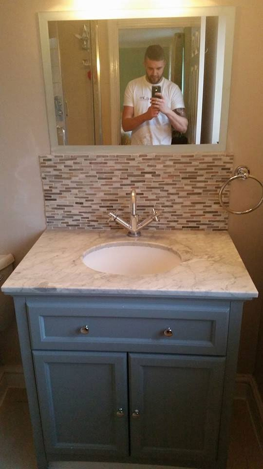 A newly installed sink.