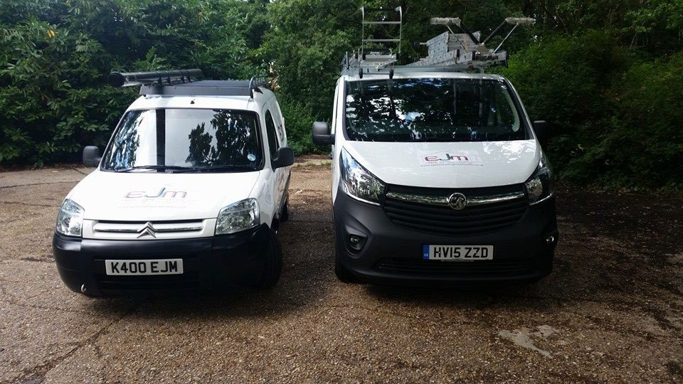 Our company vans.