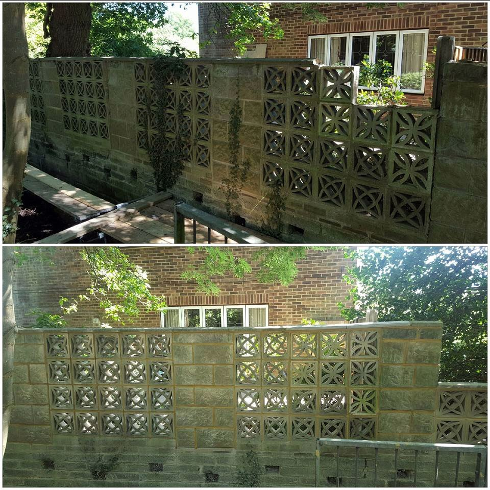 A renovated garden wall.