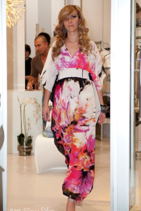 abito kimono fantasia floreale
