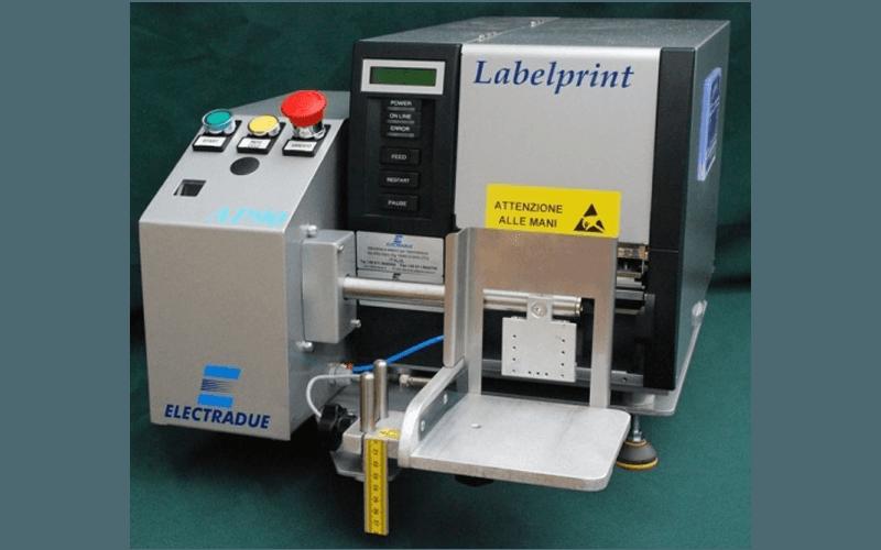 Labelprint printing and label application machine
