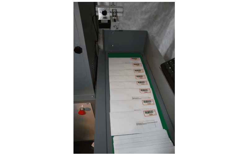 postal tracking machine