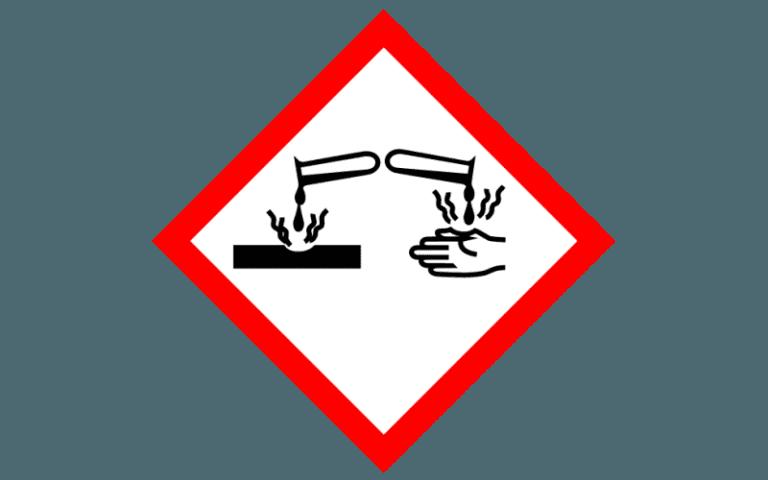etichetta per la chimica _GHS05
