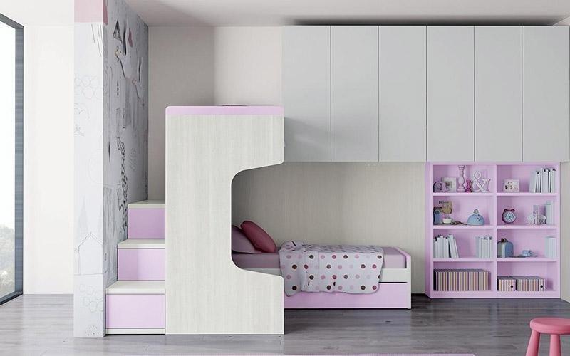 armadio con letto soppalcato