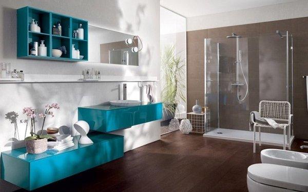 Bagno Scavolini Font azzurro