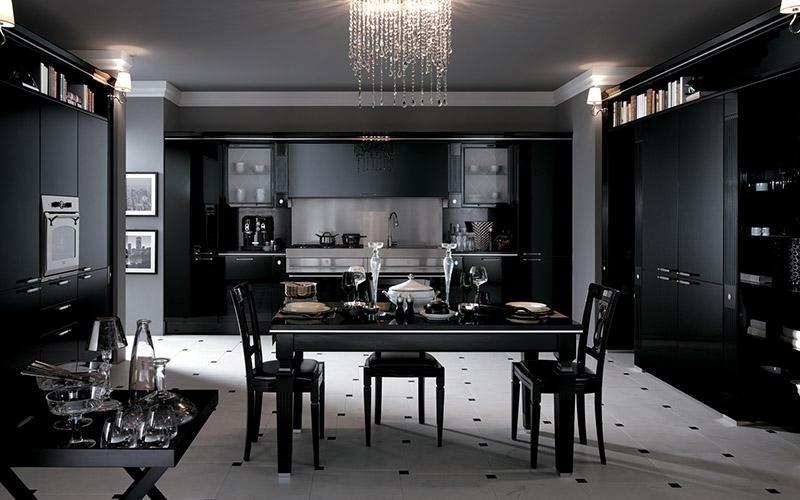 Cucina Scavolini Baccarat nera