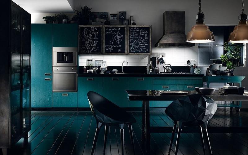 cucina azzurra