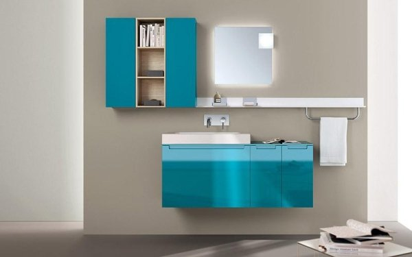 Bagno Scavolini Idro azzurro lucido