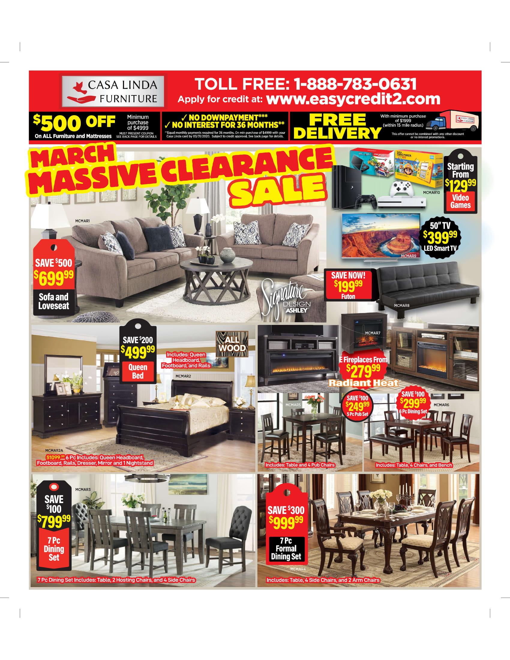 Promotions Casa Linda Furniture