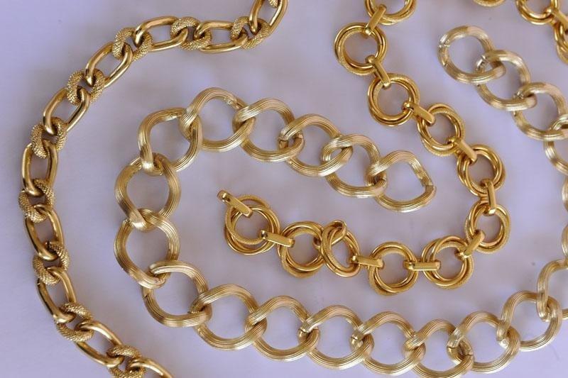 catena metallica finto oro