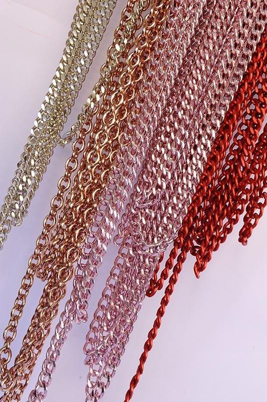 catene metalliche colorate