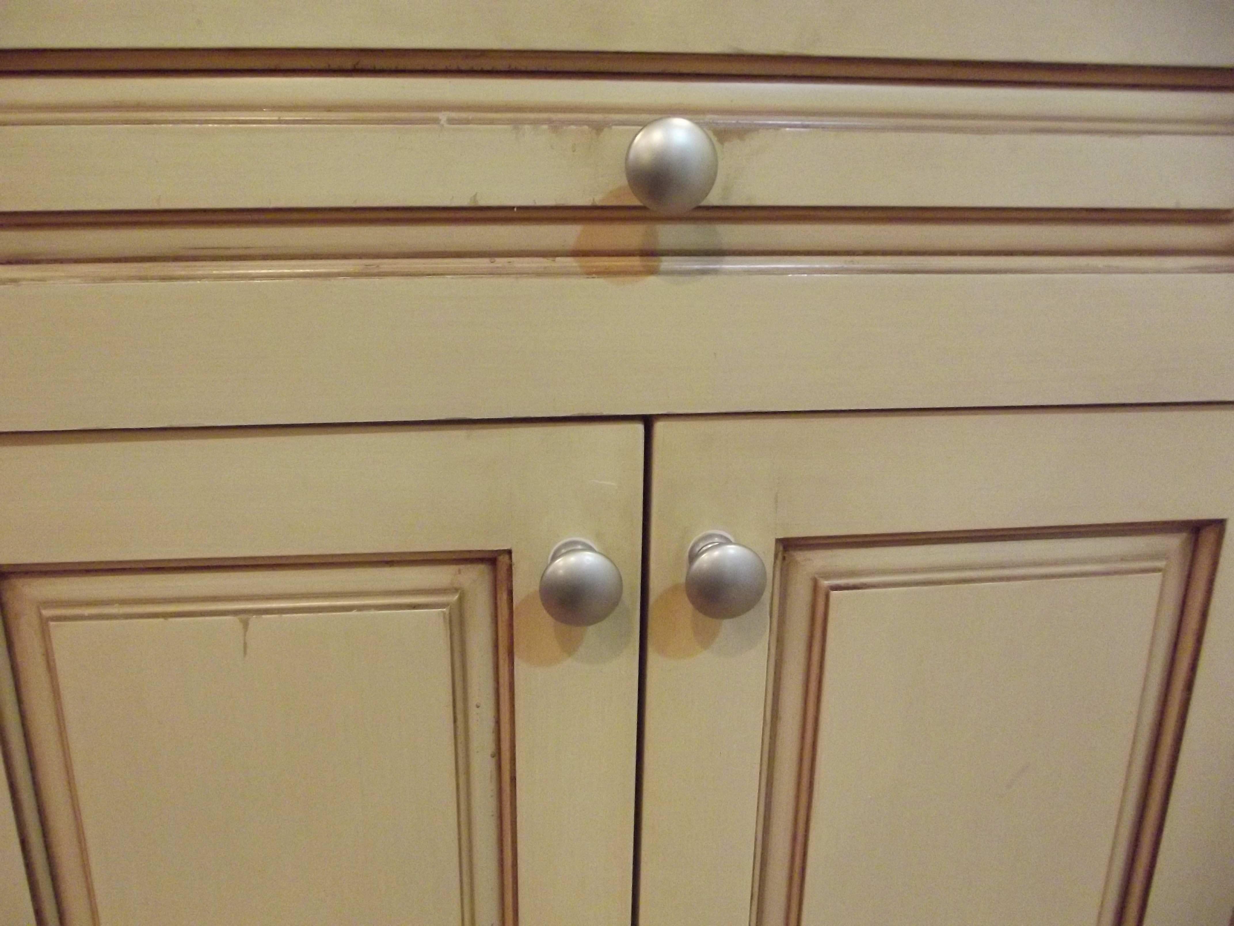Cabinet restoration work