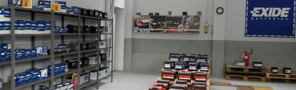 magazzino di stoccaggio batterie
