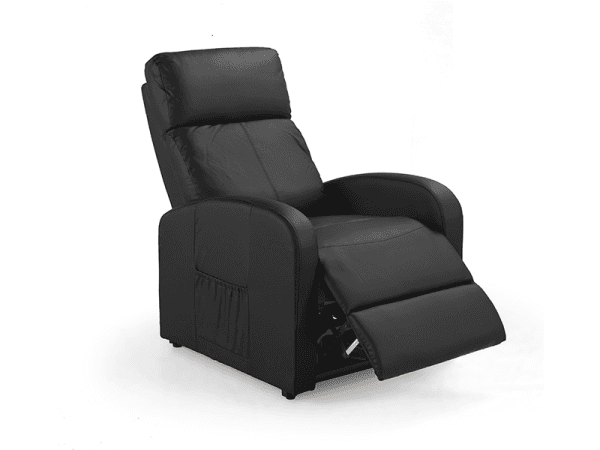 black recliner armchair
