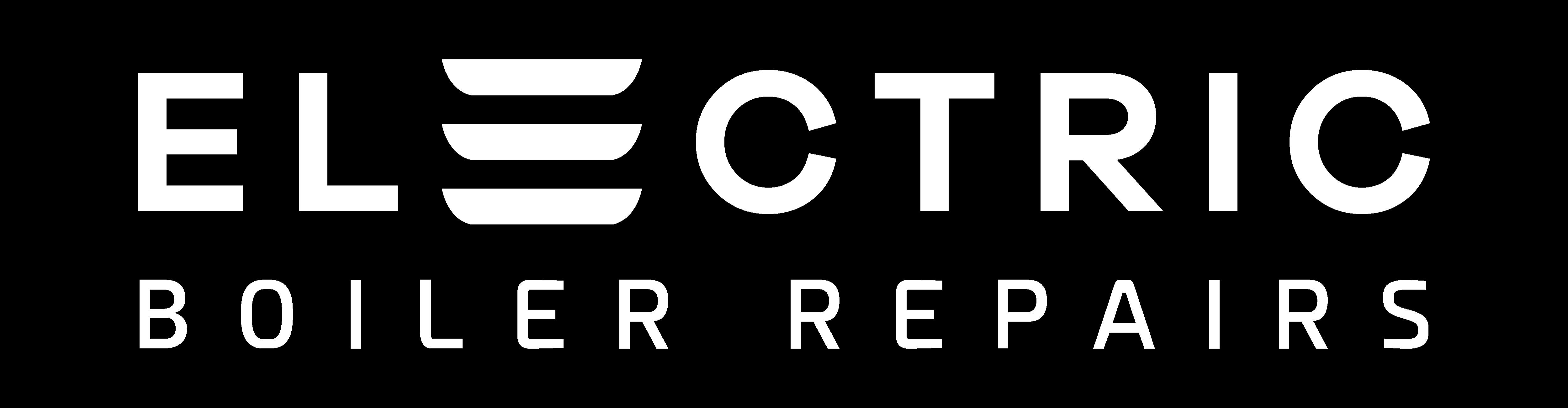 electric boiler repairs logo white