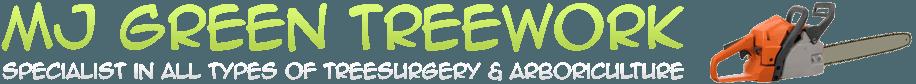 M J Green Treework logo