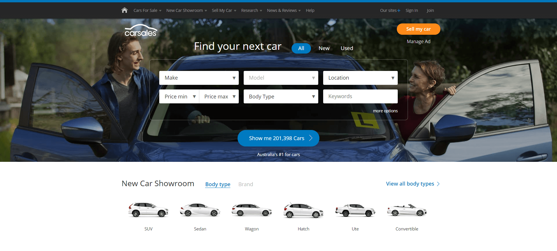 Carsales Website