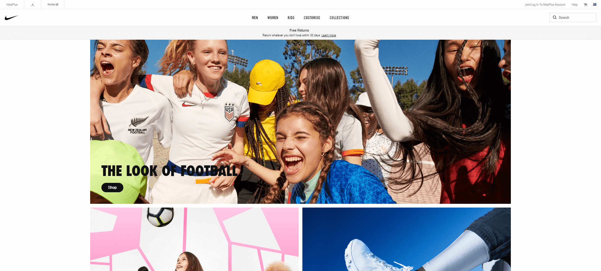 Nike Australia's Website