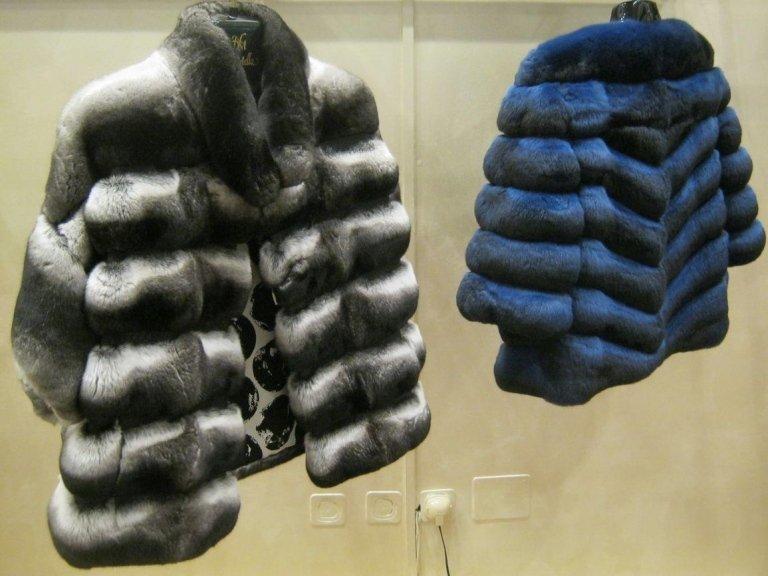 pellicce in esposizione