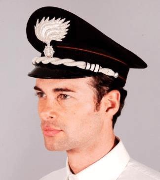 Rigid carabinieri officer cap