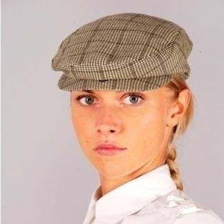 Woman's checked beret