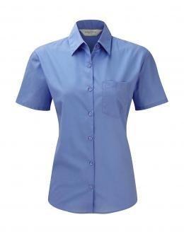 Camicia donna popeline maniche corte