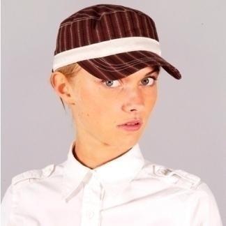 Woman's striped sports hat