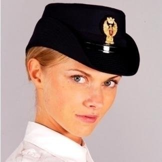 Triconic female state police hat for ordinary uniform