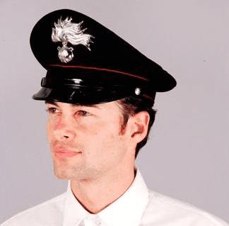 Rigid carabinieri cap